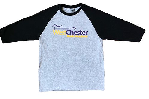 WCMA Adult Black/Grey 3/4 Sleeve T