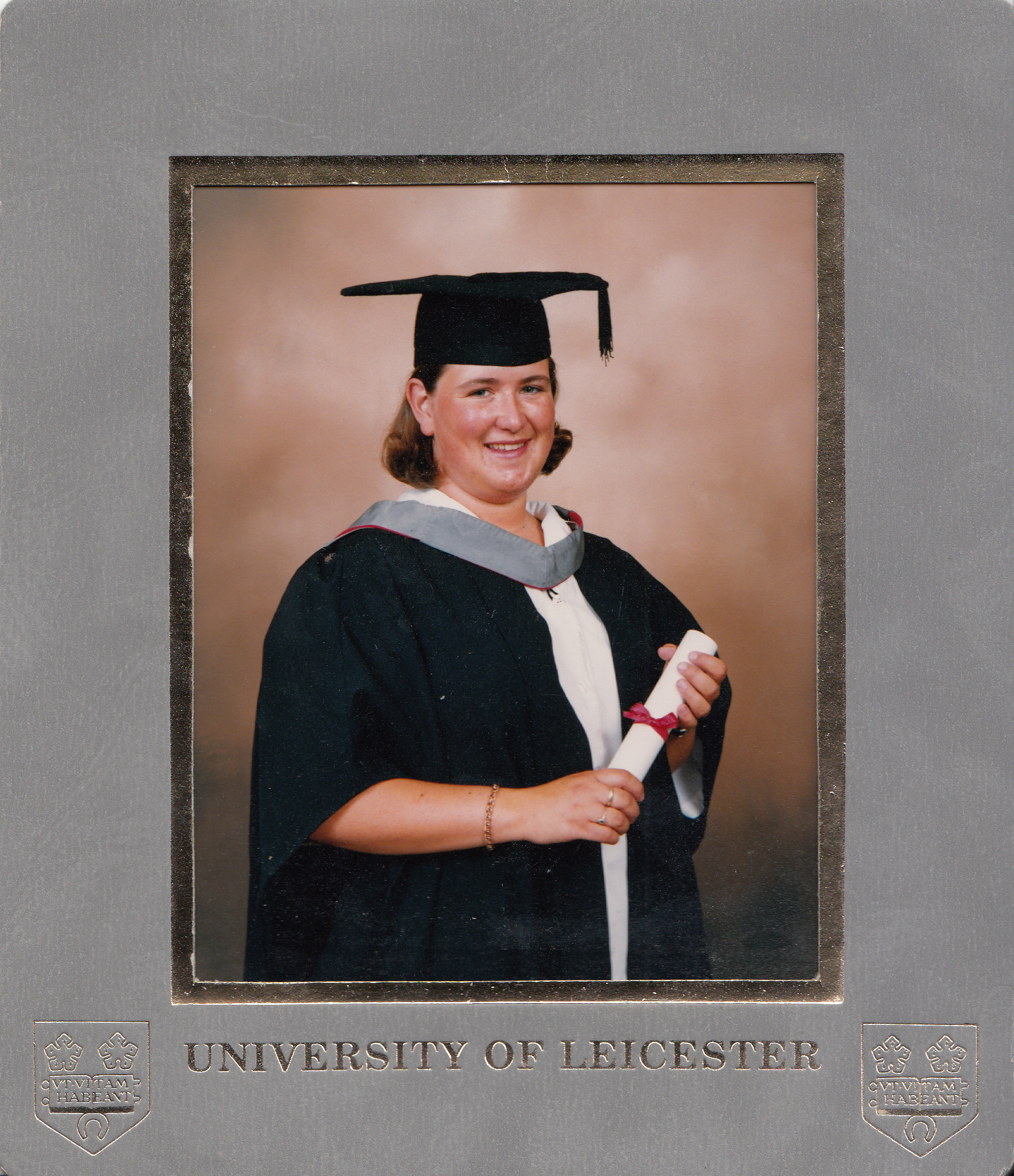 Graduation from University of Leicester