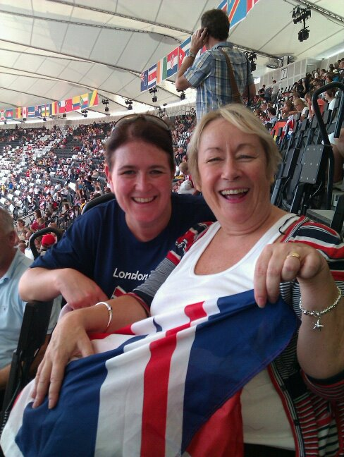 Supporting Team GB at London 2012 Olympi