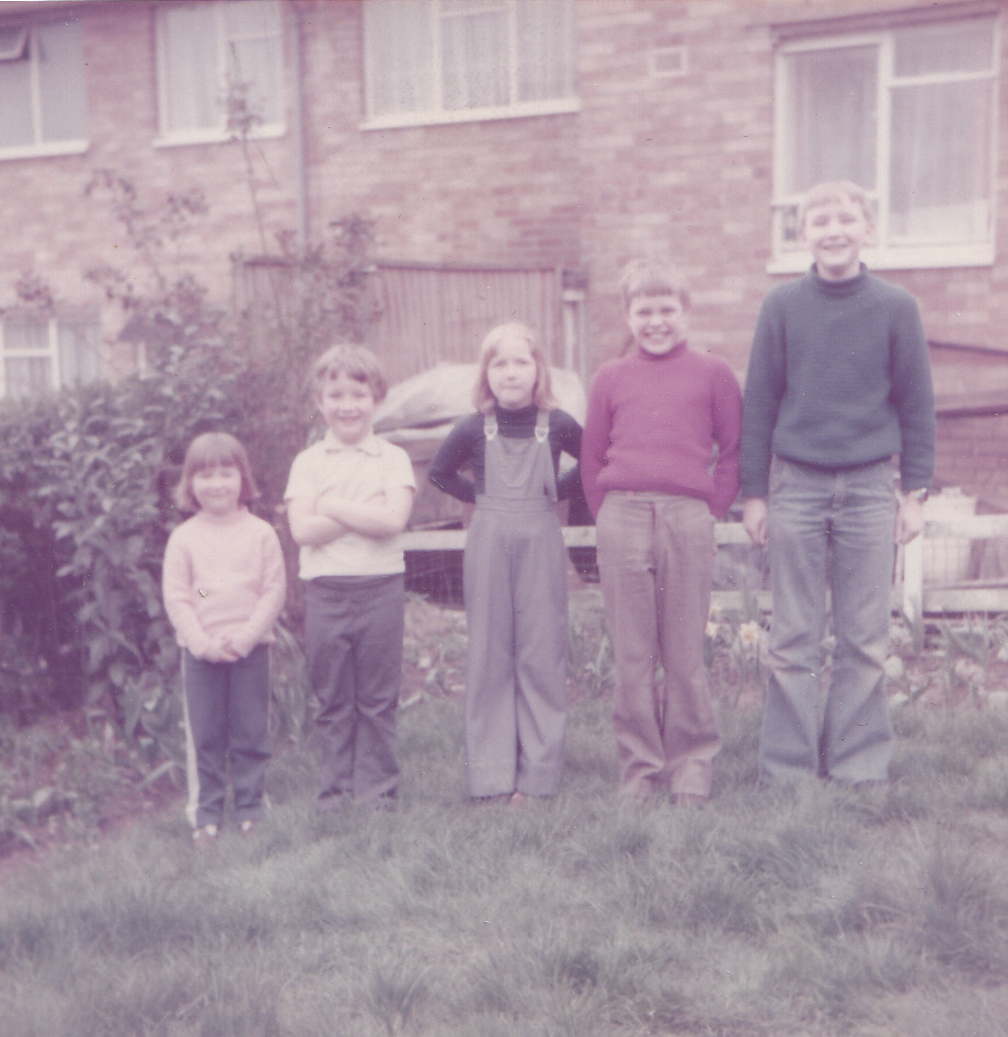 With Danny & my cousins outside my Nan's