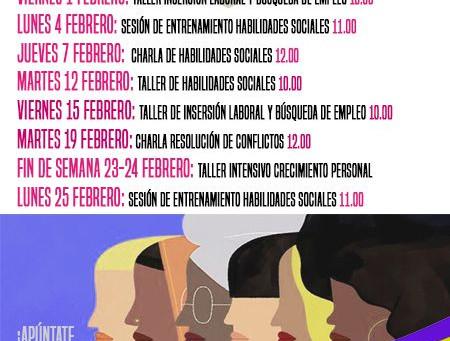 MUJERES EN EXCLUSIÓN SOCIAL TALLERES GRATUITOS