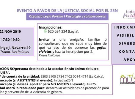 EVENTO POR EL 25N A FAVOR DE LA JUSTICIA SOCIAL