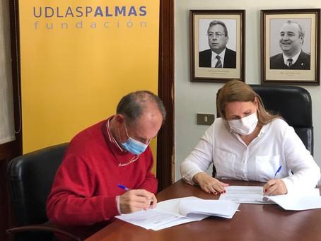 """Acuerdo de colaboración de la Fundación UD Las Palmas y la Asociación """"A TI, MUJER"""""""