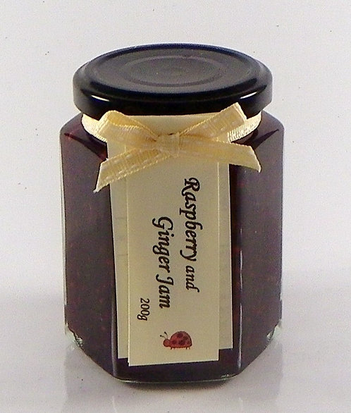 Raspberry and Ginger Jam 200gm