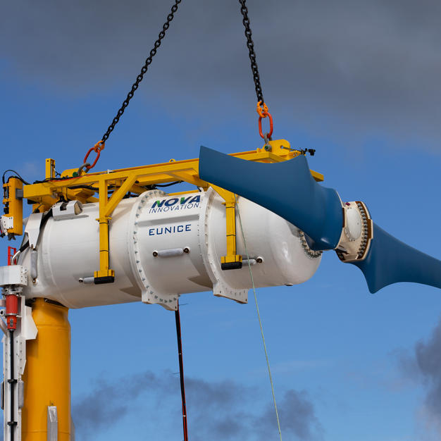 T4 Tidal Turbine nacelle with frame