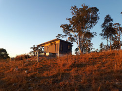 Morning sun on the Eco-Cabin