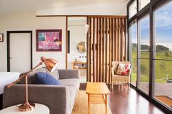 Eco-Cabin lounge area