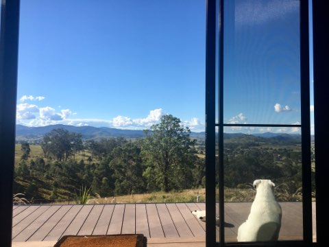Wonderful views from Eco-Cabin sofa