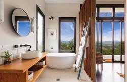 Glamorous bathroom with views