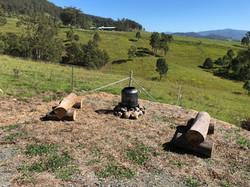 Outdoor fire drum
