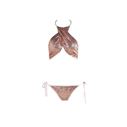 Rose Gold Sequin Swimsuit