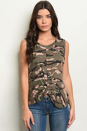 Mocha Camouflage Top