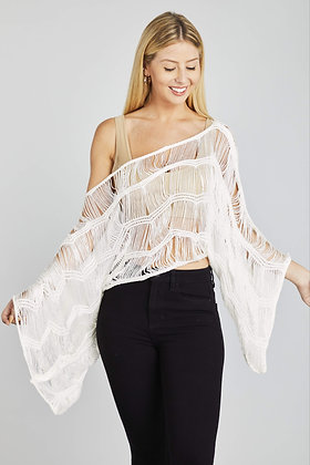 Web Sweater Cover Up