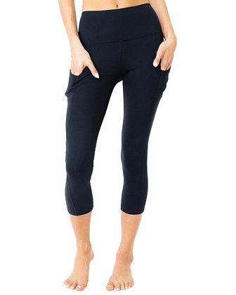 Jolie High-Waisted Capri Leggings With Hip Pockets