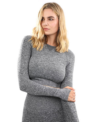 Cadrina Seamless Sports Top - Grey