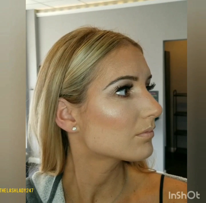 Wedding makeup (she didn't have lipstick on yet though!)