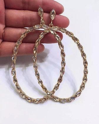 Stace Glam Rhinestone Drop Earrings