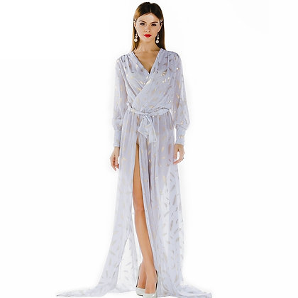 White Sexy See Thru Maxi Dress