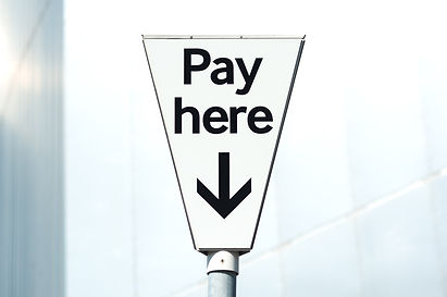 Pay and display, _Pay Here_ carpark sign
