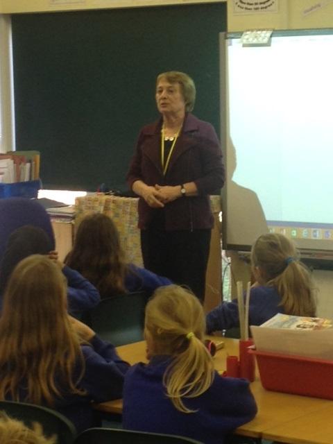 Gillian Cross visits school