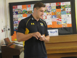 Visit from Sam Jones, Wasp Player