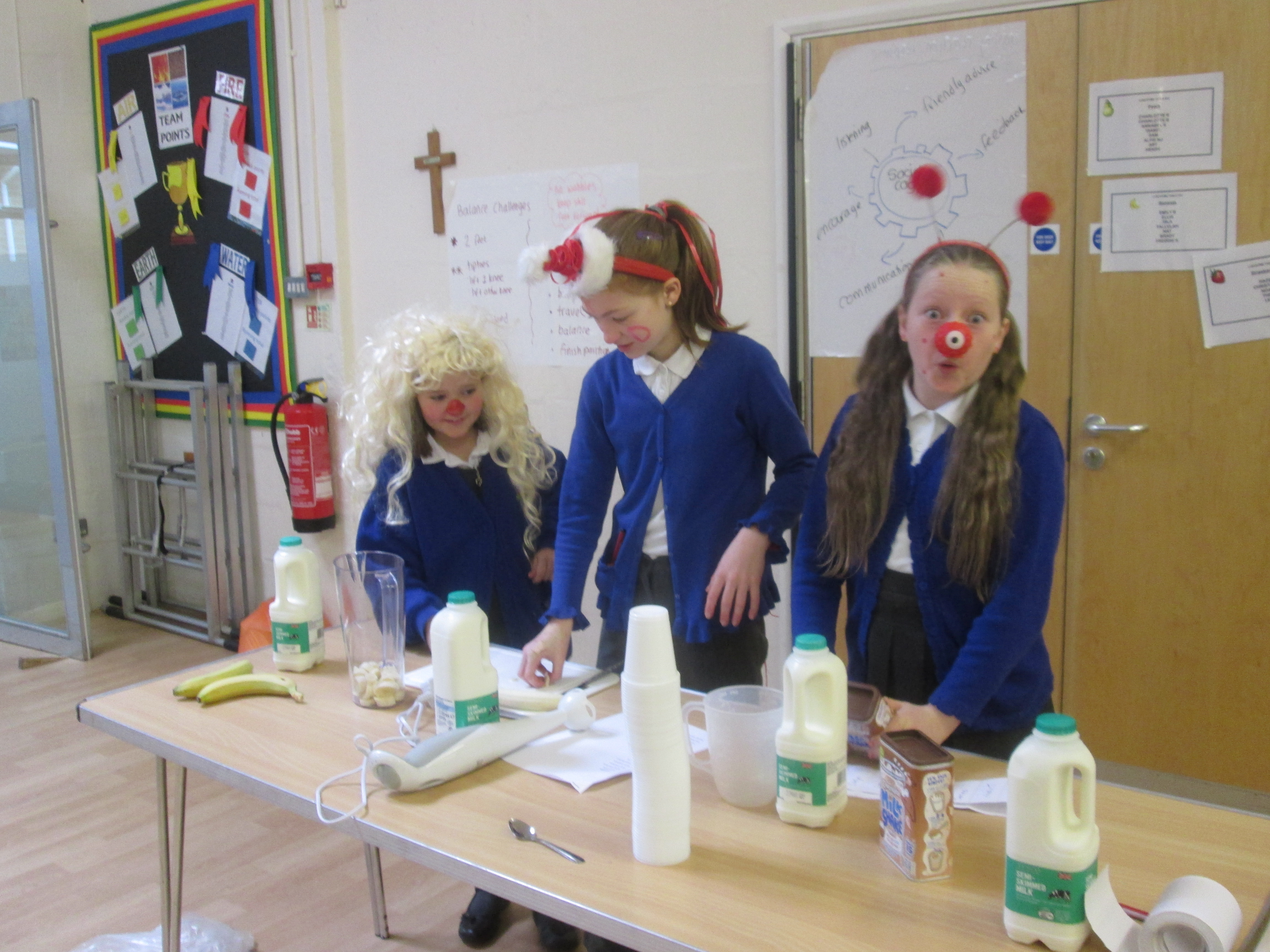 Smoothie making for Comic Relief
