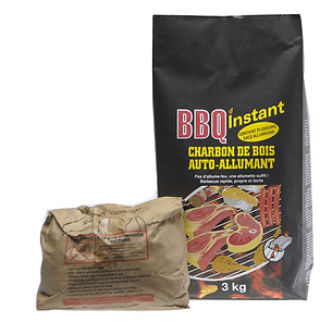 3 KG INSTANT LIGHT BLACK WATTLE CHARCOAL