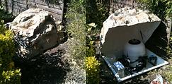 Rangement filtre en roche