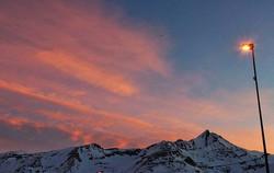 #sunset #mountains #clouds #pink #pinksk