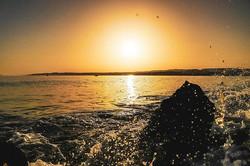 #sunset #sun #sky #orange #ocean #waves