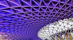 Kings Cross Station waiting for the trai