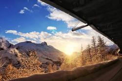 #morning #bluesky #mountains #sunrise #s