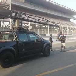 Shooting at dubai autodrome