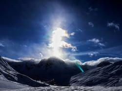 #vortex #mountains #sun #flare #lensbibl
