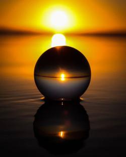 #lensball #lensballphotography #sunset #