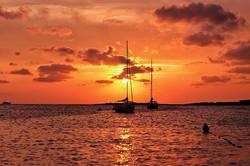 #sunset #sun #sky #orange #boats #boatym