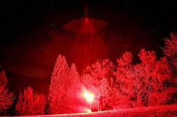 Flare shot at night