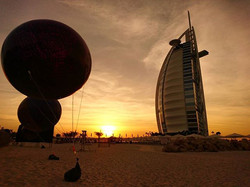 #sunset #burjalarab #beach #sea #sky #cl