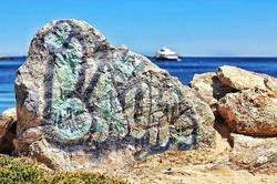 #graffiti #rocks #nature #boatymcboatfac