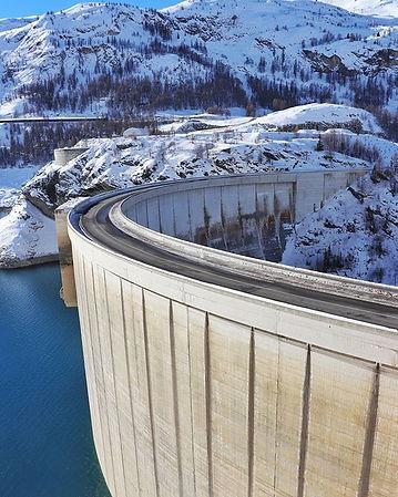 #dam #bluewater #bluesky #snow #mountain