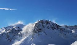 #mountains #steam #snow #blue #bluebird