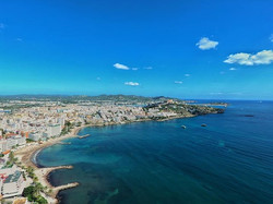 First flight out in ibiza with the drone