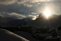 #snow #mountains #mountaintown #sun #sun