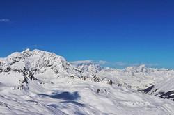 #blue #bluesky #mountains #snow #clouds