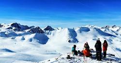 #blue #mountains #snow #boarding #tignes