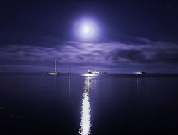 #moon #moonlight #stars #clouds #sky #re