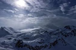 #mountains #snowstorm #snow #clouds #sun