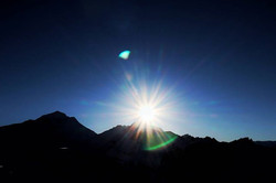 #sunset #flare #mountains #boarding #sno
