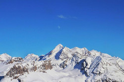 #halfmoon #moon #mountains #bluesky #blu