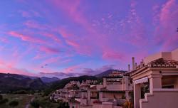 Got to love a pink sky sunset._._._._